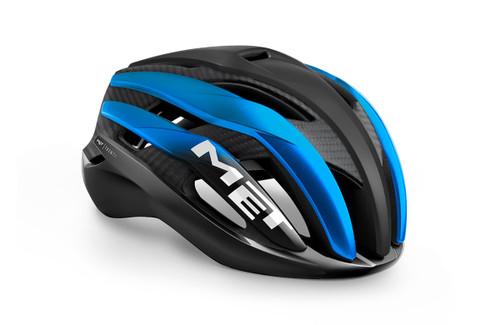 MET - My21 Trenta 3K Cycle Helmet - Carbon Black/Blue