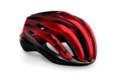 MET - My21 Trenta MIPS Road Cycling Helmet - Black/Red