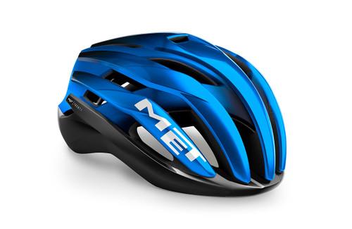 MET - My21 Trenta MIPS Road Cycling Helmet - Black/Blue