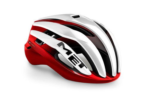 MET - My21 Trenta MIPS Road Cycling Helmet - White/Black/Red