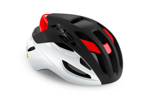 MET - My21 Rivale MIPS Cycling Helmet - Black/White/Red