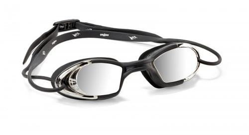 Sailfish -  Lightning Unisex Swim Goggles 2021 - Black/Silver Mirrored Lenses