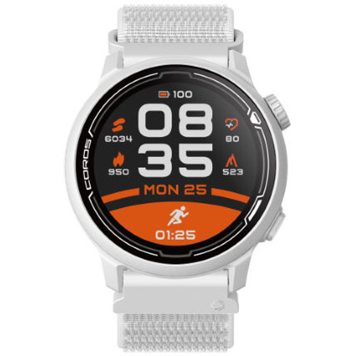 Coros - PACE 2 Premium GPS Sport Watch with Nylon Strap - White