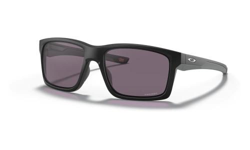 Oakley - Mainlink Performance Sunglasses: Matt Black Frame and Arms; Prizm Black Polarised Lenses: Prizm Grey