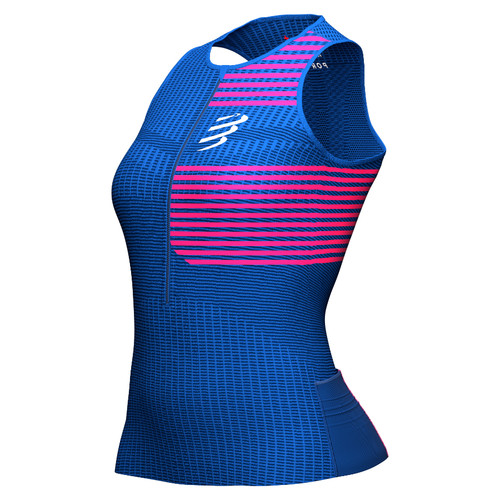 Compressport - Women's Tri Postural Tank Top 2021 - Blue Lolite