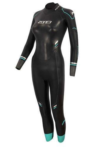 Zone3 - Women's Advance Wetsuit 2021 - Black/Turquoise/Gunmetal - Ex-Rental 1 Hire