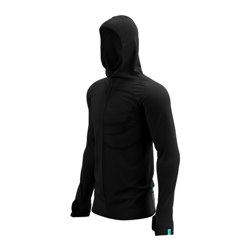Compressport - 3D Thermo Seamless Hoodie Zip - Black Edition 2021 - Men's
