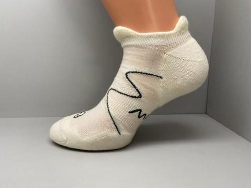 MOGGANS - No Show Socks - White - Unisex