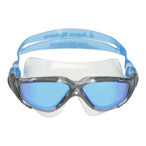 Aquasphere - Vista Transparent Gray Lenses Mirror Blue