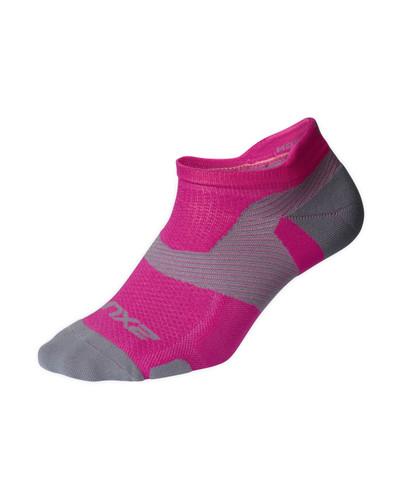 2XU - Vectr Light Cushion Crew Socks - Magenta/Light Grey