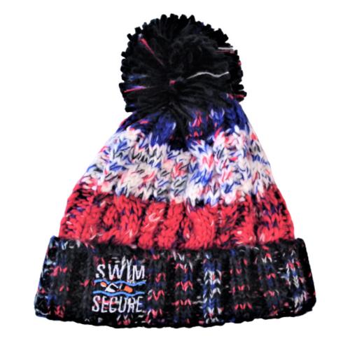 Swim Secure - Bobble Hat - Black Jacks