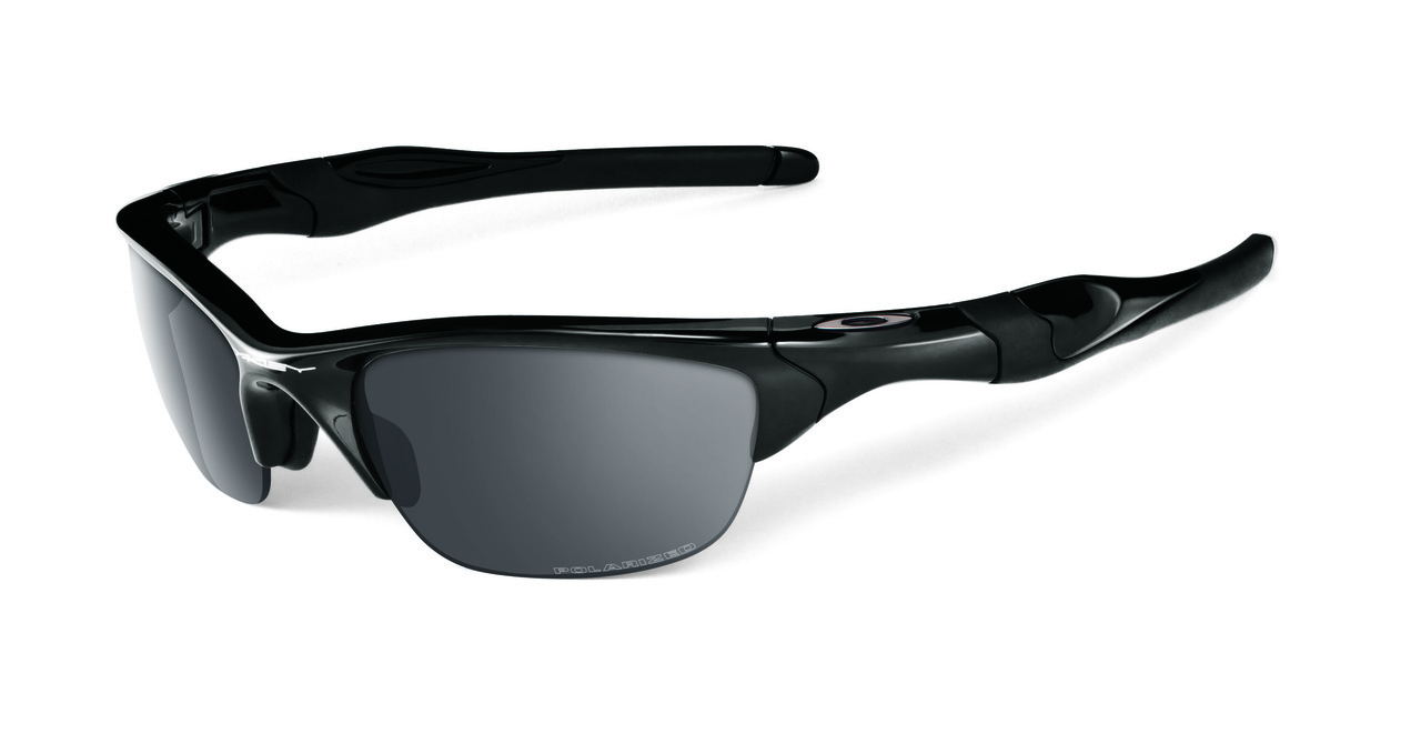 01aa78d92f81d MyTriathlon - Oakley Sports Performance Half Jacket 2.0 Polarised Sunglasses  - Polished Black Frame - Polarised Black Iridium Lens OO9144-04