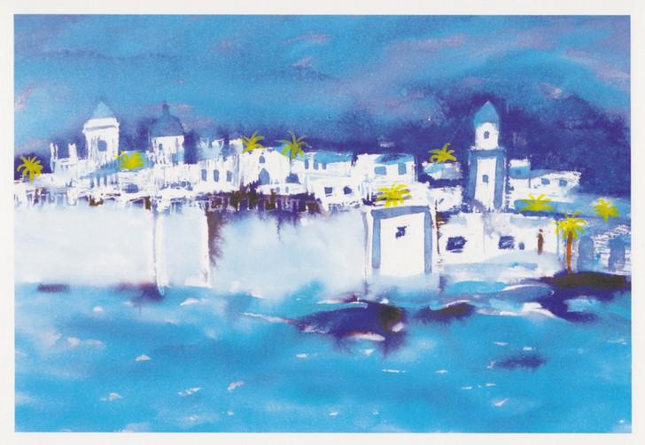 African Art Card. 'Essaouira' by Maggie Jones