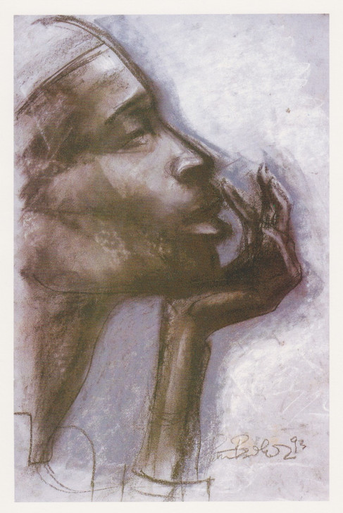 African Greeting Card. 'Contemplation' by Patrick Bradfield