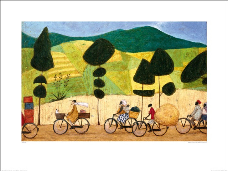 African Art Print Rush hour on the road to Lushoto by Sam Toft