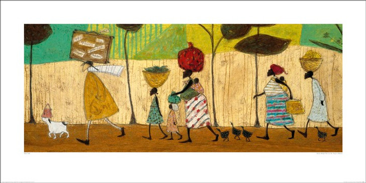African Art Print 'Doris helps out on the way to Mzuzu' by Sam Toft
