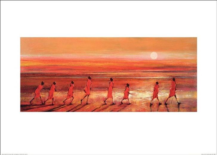 African Art Print - 'Samburu Sunset' by Jonathan Sanders