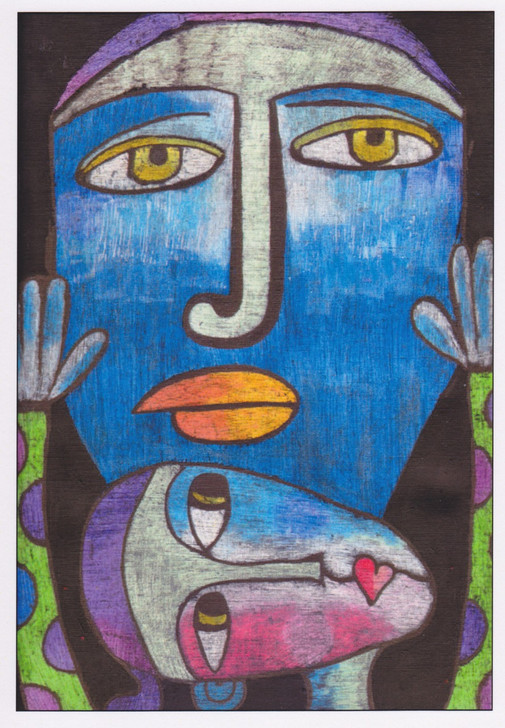 African Greeting Card 'Dad & Me' by Jocelyn Rossiter