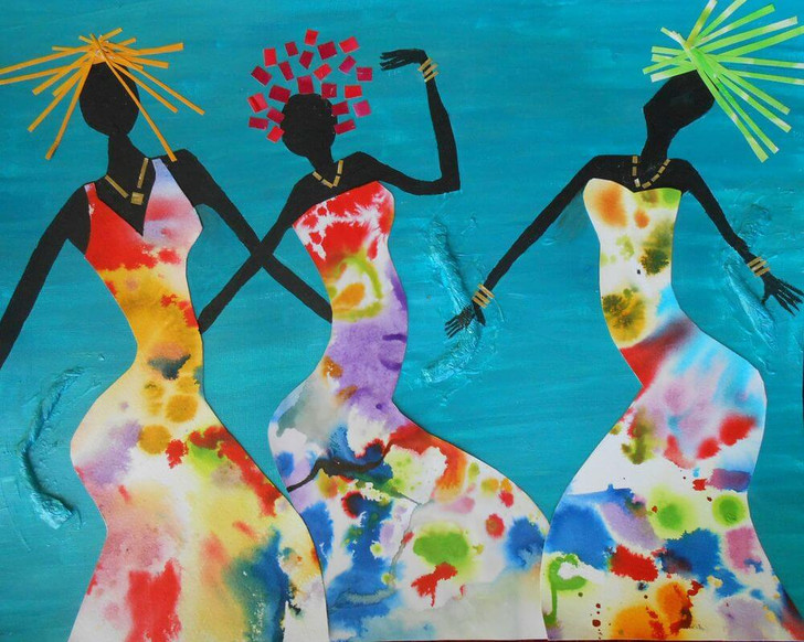 Limited Edition Giclée Print -Joyful Sisters by Joss Rossiter