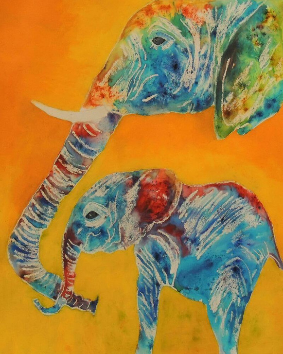 Giclée African Art Print 'Baby Ele' by Joss Rossiter
