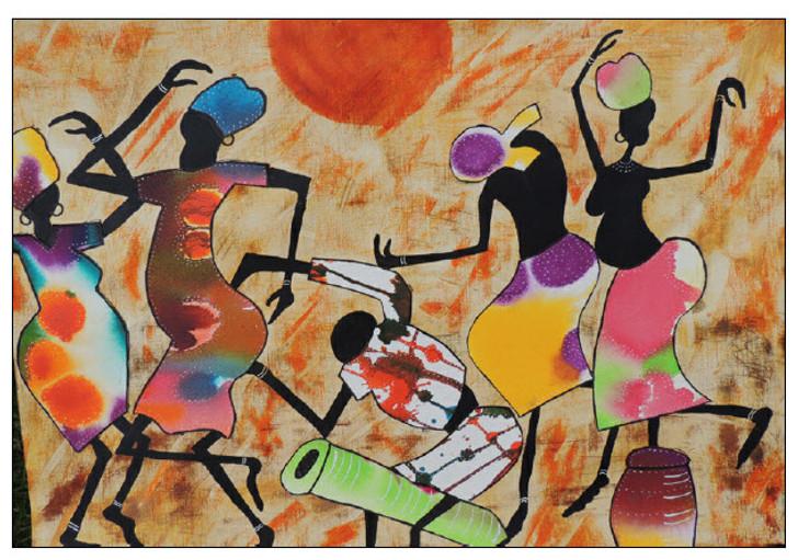 African Art Card - We've got Rhythm'- by Joss Rossiter - Soulbrush Art