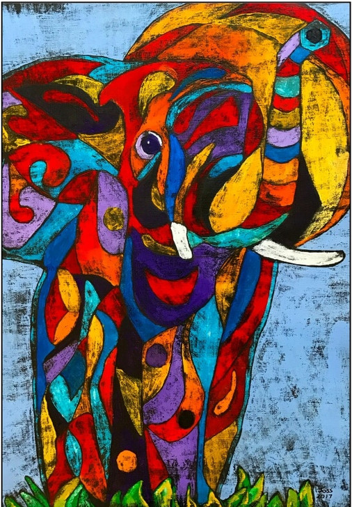 African Art Greeting Card - Ellie Love' by Joss Rossiter - Soulbrush Art