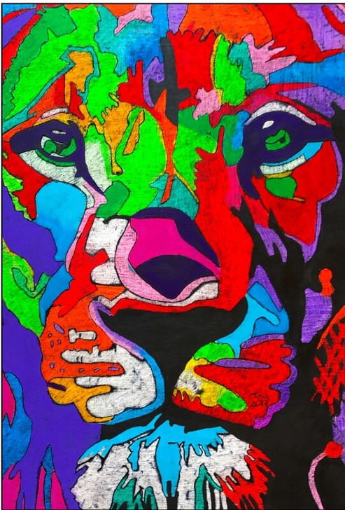 African Art Greeting Card - 'The KIng' by Joss Rossiter - Soulbrush Art