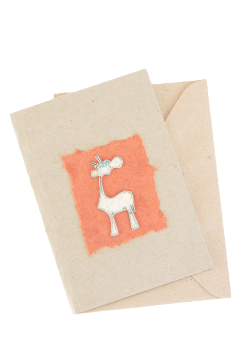 African Greeting Card - Giraffe