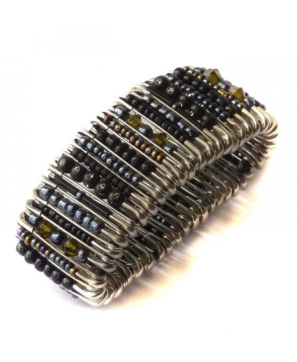 Safety Pin Bracelet - Black