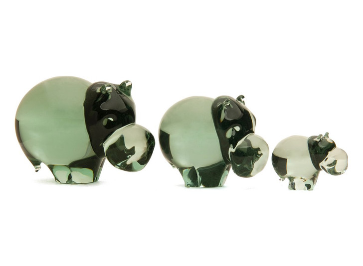 Ngwenya Glass Hippo's from the African Kingdom of Eswatini