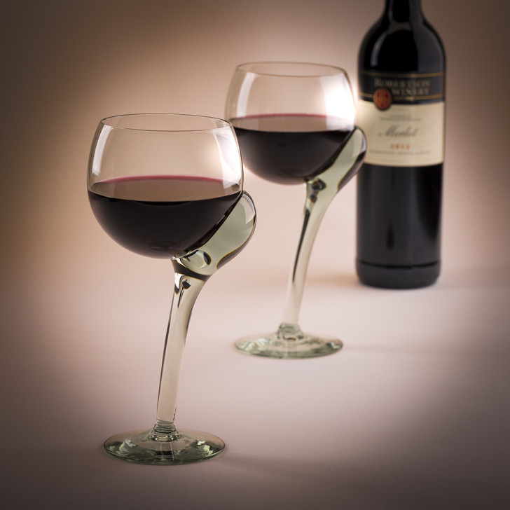 Ngwenya Glass Red Wine Glasses. Handcrafted from 100% Recycled Glass in the African Kingdom of Eswatini. Fair Trade