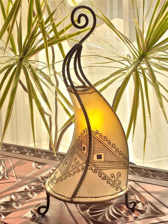 Moroccan Henna Lamp - Natural Abstract Design