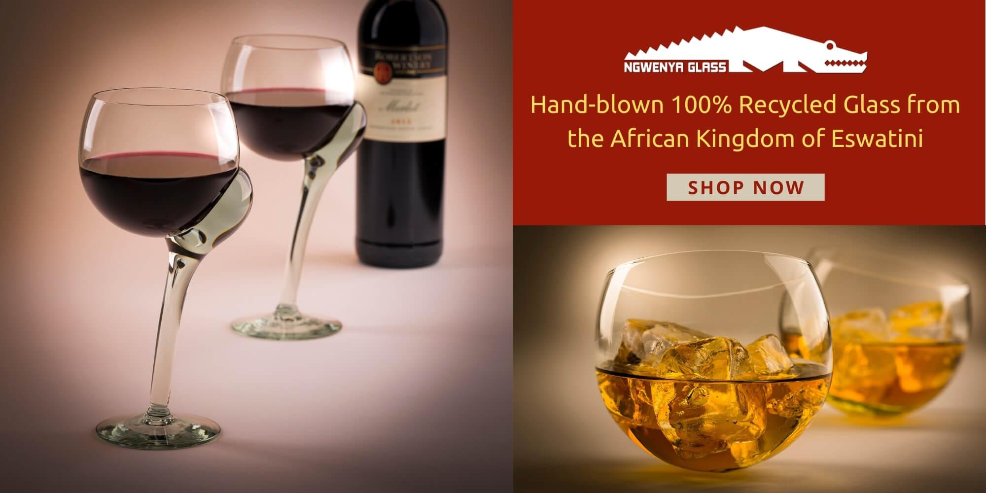 Ngwenya Glass UK handmade in Africa by African Artisans