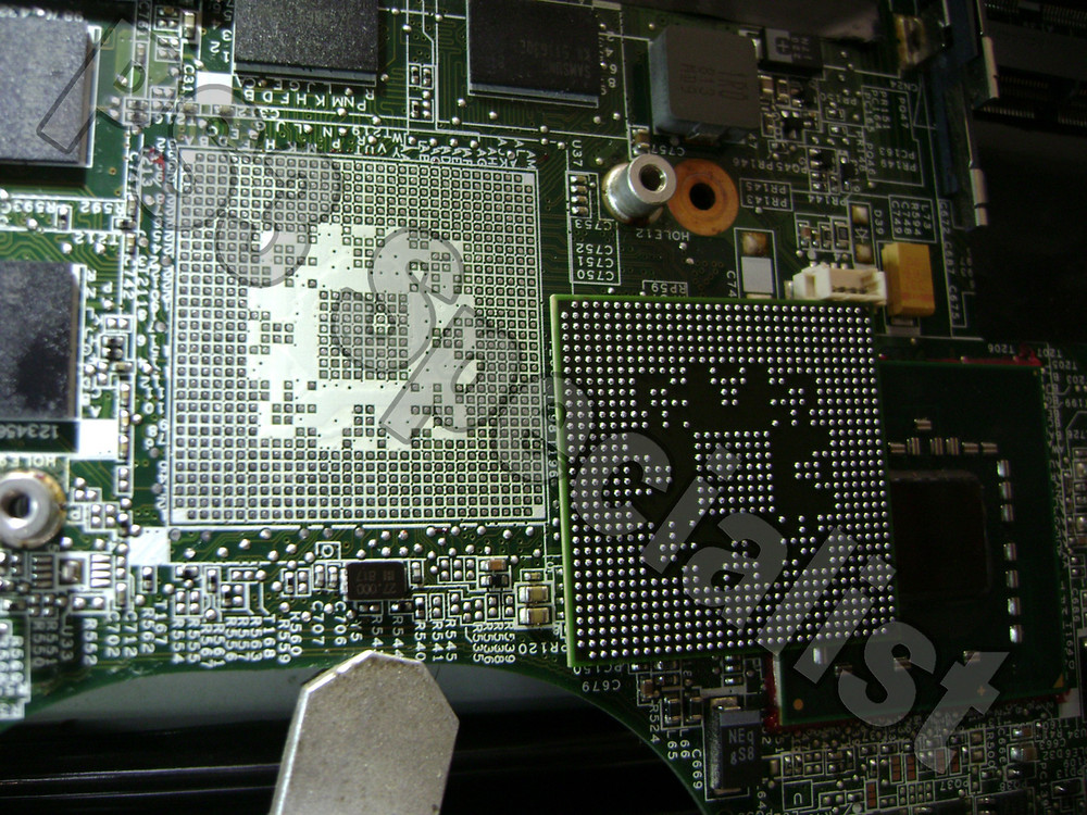 HP laptop Graphics chip Reballing repair service