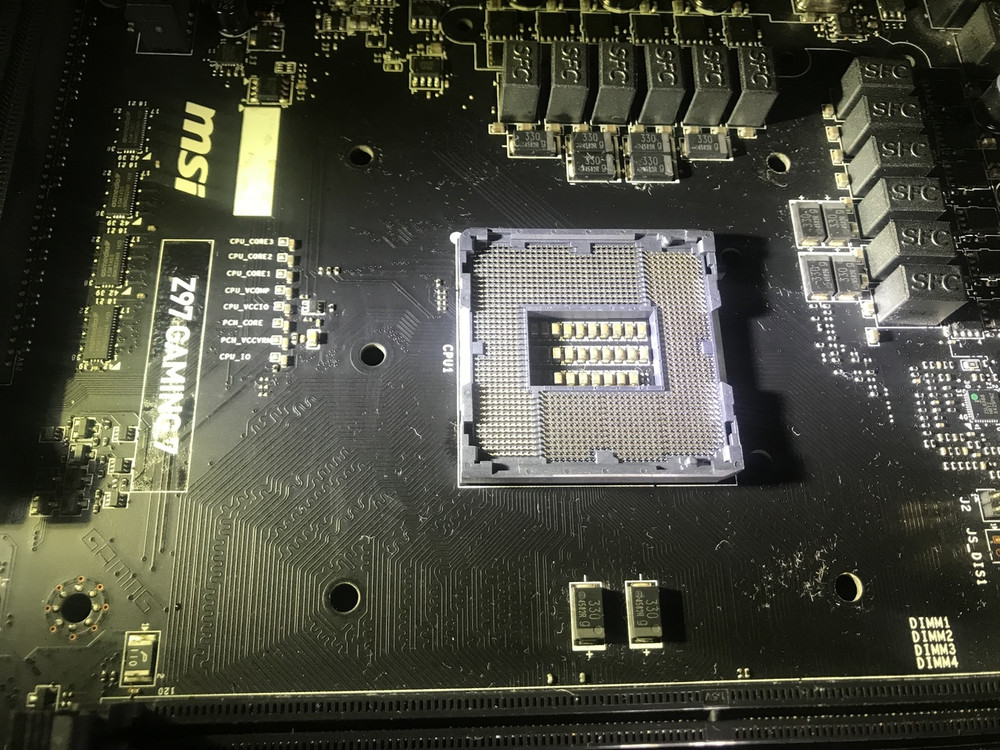 Computer Motherboard Damaged CPU Socket Replacement service