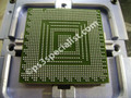 The new solder has been melted into the graphics chip , The chip is now ready to be reattached to the board