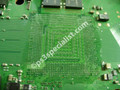 Removing the old solder from the motherboard