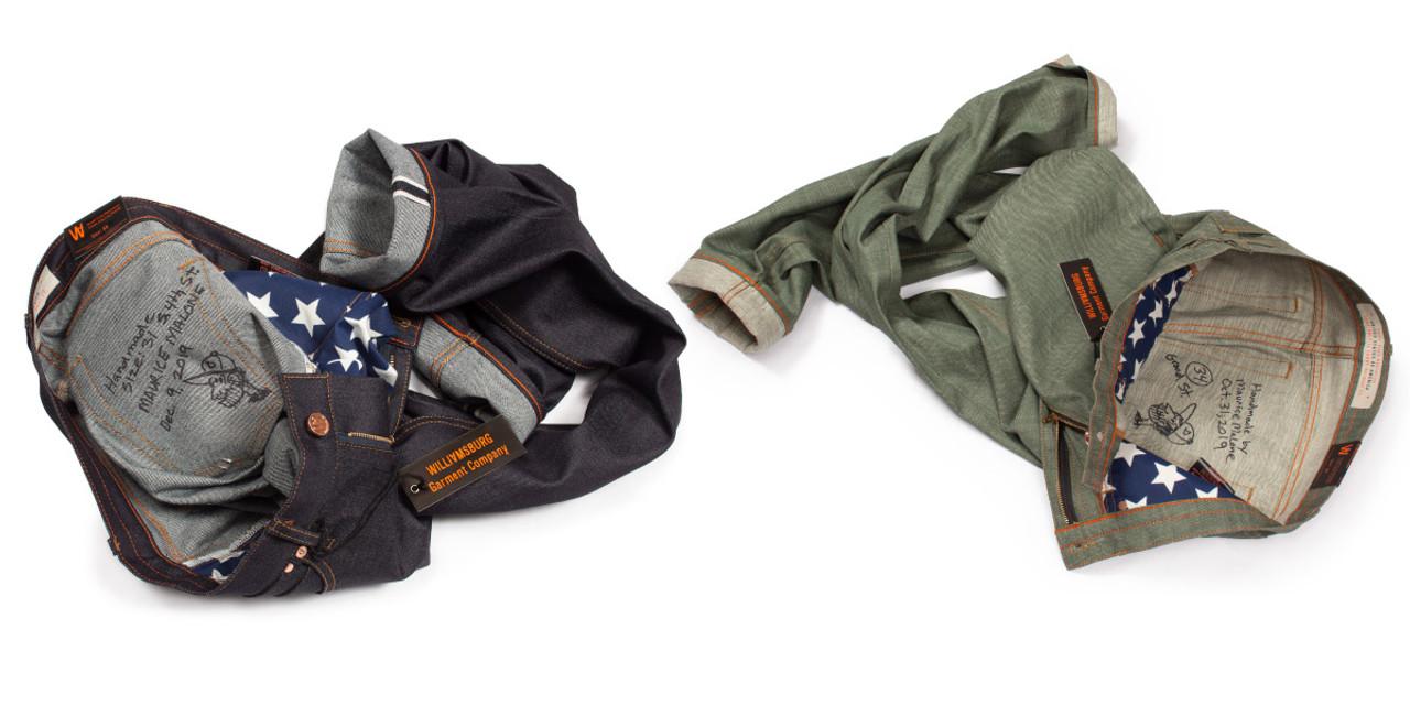 Selvedge raw denim custom made jeans by Williamsburg Garment Co.