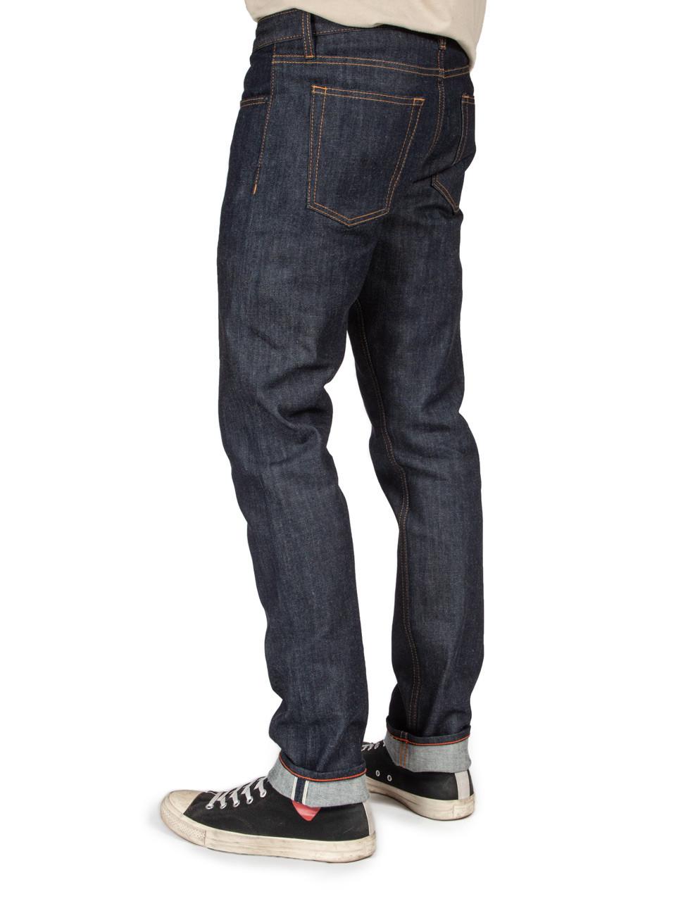 4a46161ac97734 Williamsburg stretch selvedge slim fit raw denim jeans made in USA with  Cone White Oak fabric
