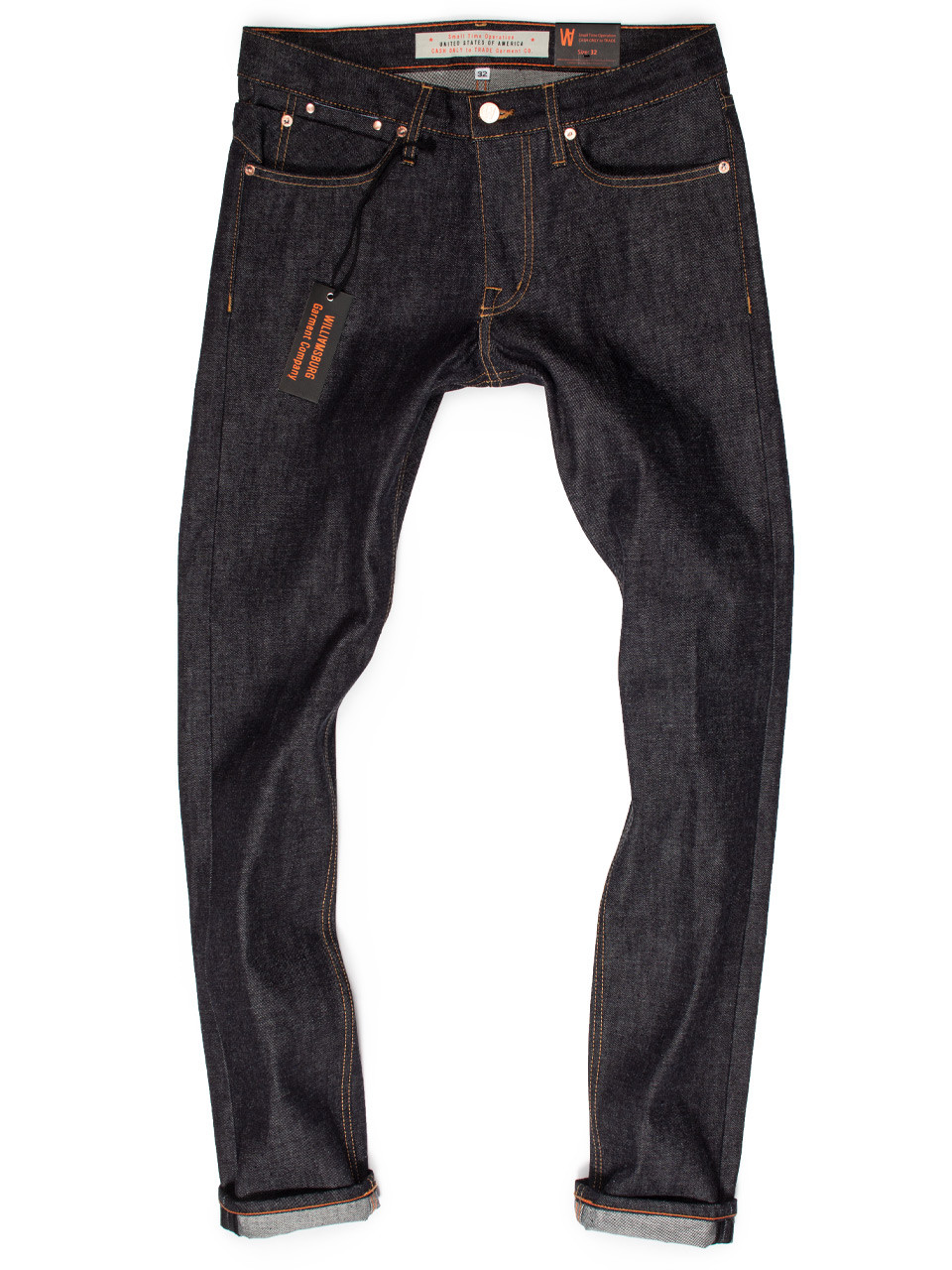1c09b2be8af New Hope Street slim tapered raw denim American made jeans, produced in  13-oz