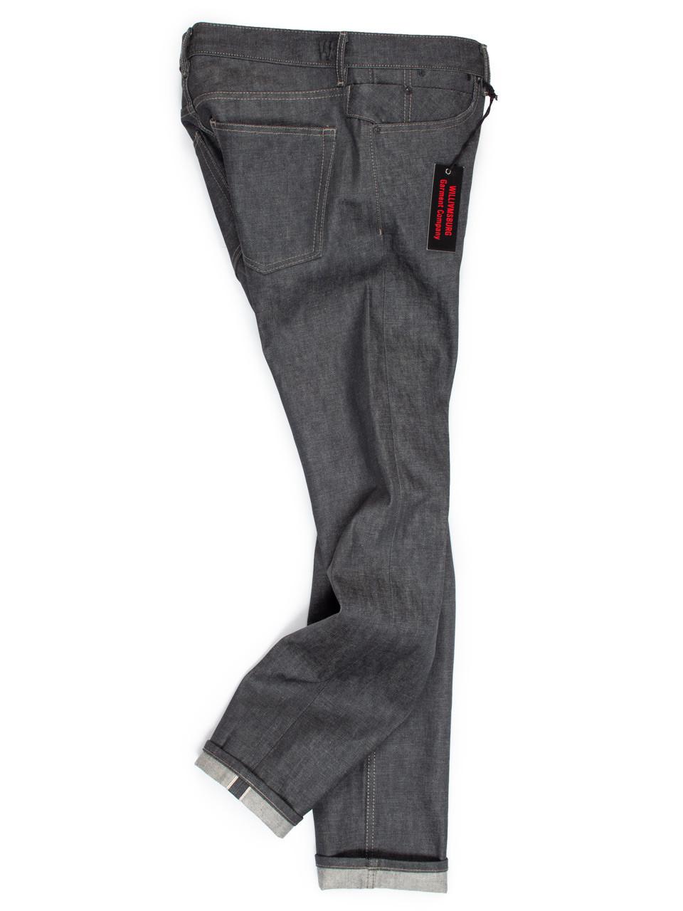 Tall Men S 38 Inseam Gray Selvedge Raw Denim Slim Jeans Williamsburg