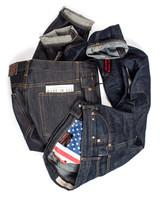 Case study raw denim jeans post wash & wear
