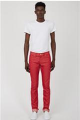 Red Raw Denim Jeans