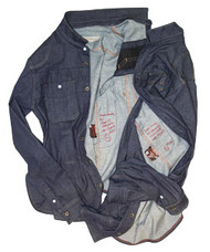 Prices: raw denim shirt & jeans made in Brooklyn