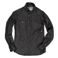 A thing of beauty - The black raw denim shirt made in Brooklyn