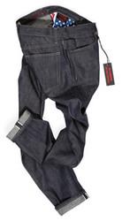 Lightweight selvedge raw denim jeans