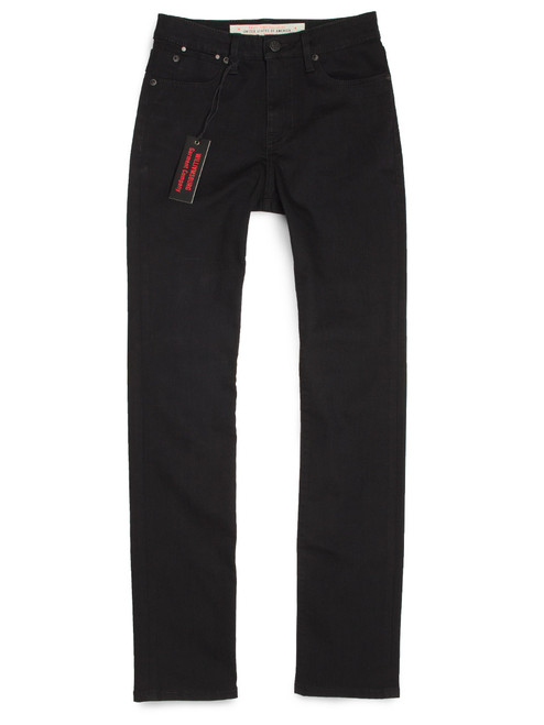 Women's Tube Straight Black American Made Jeans.