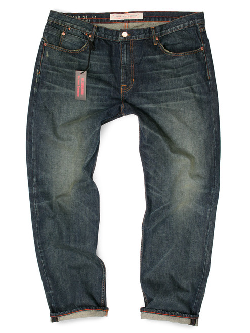 Dark Wash Big and Tall jeans. Big Mens American made jeans.