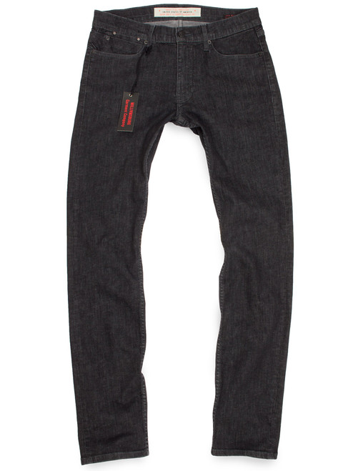 Black skinny jeans for men with stretch - Stonewashed American made jeans.