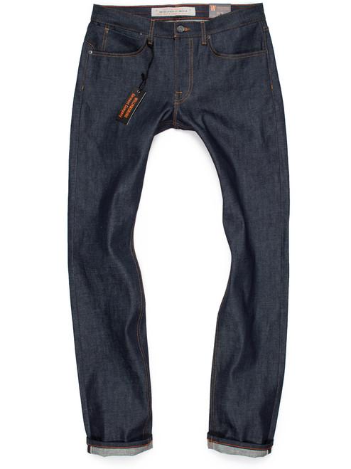 Men's slim fit raw denim Japanese selvedge tall jeans